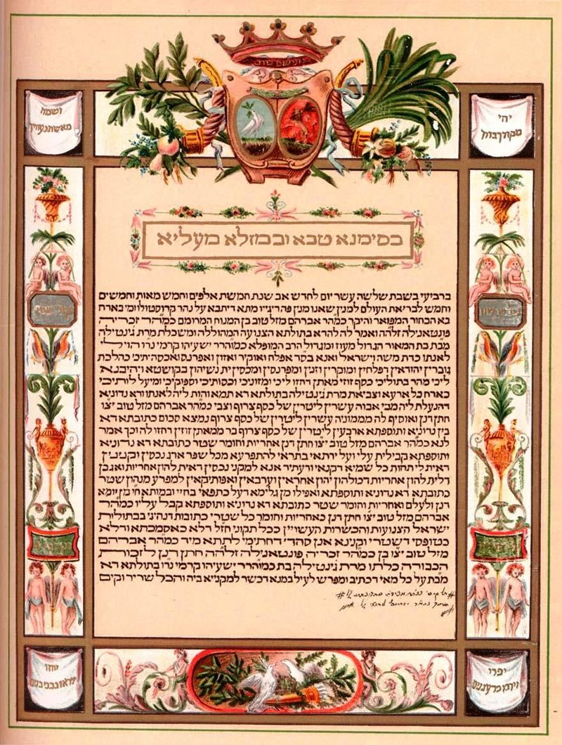 Ketubah example