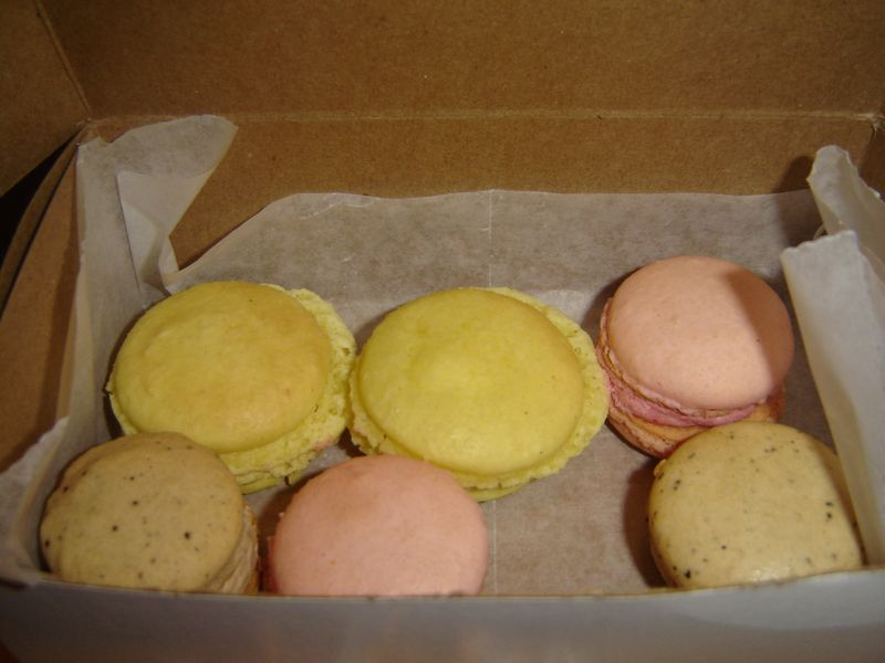 Lemon, raspberry, and espresso macs