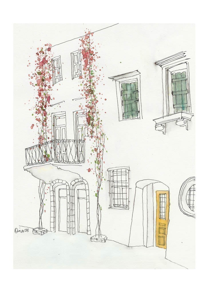 Flowers in Greece by artist Nina Clough