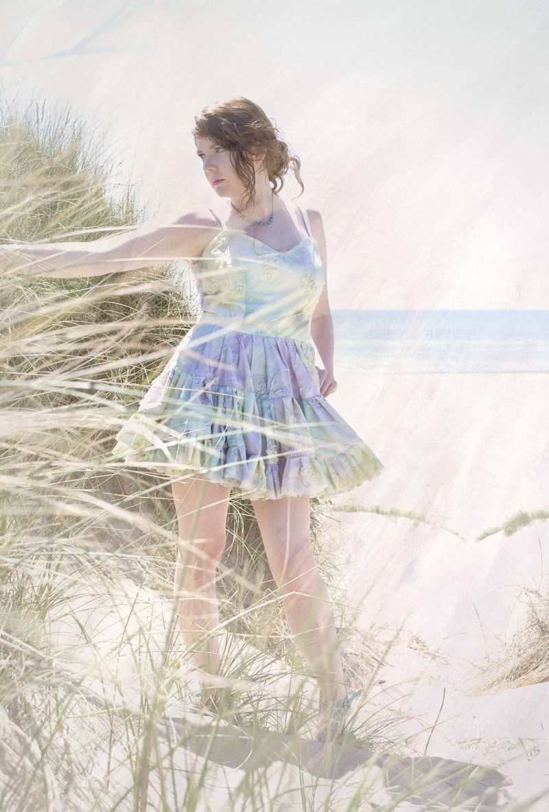 Sherbert Tie Dye dress by My Little Empire, Photo by Cake and Cheese, both of Manchester, England (2)