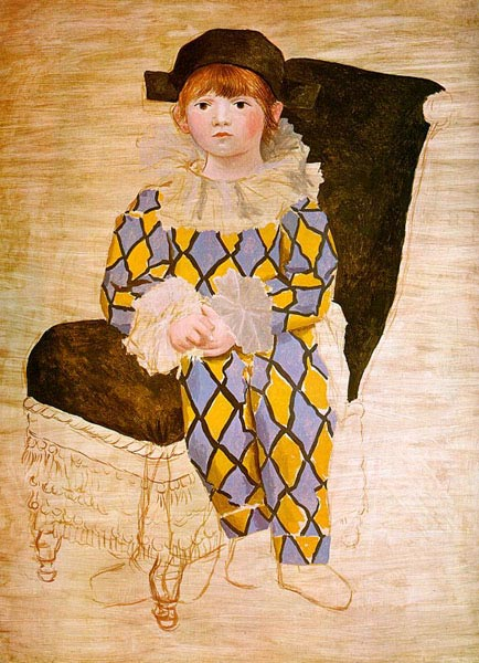 Paulo as Harlequin, by Picasso, 1924