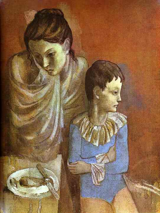 Tumblers, Mother and Son, by Picasso, 1905