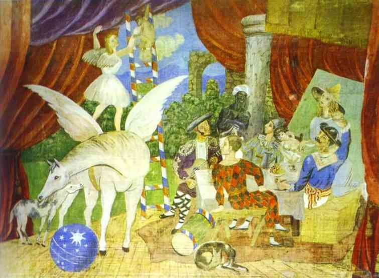 Sketch of Set for the Parade, by Picasso, 1917