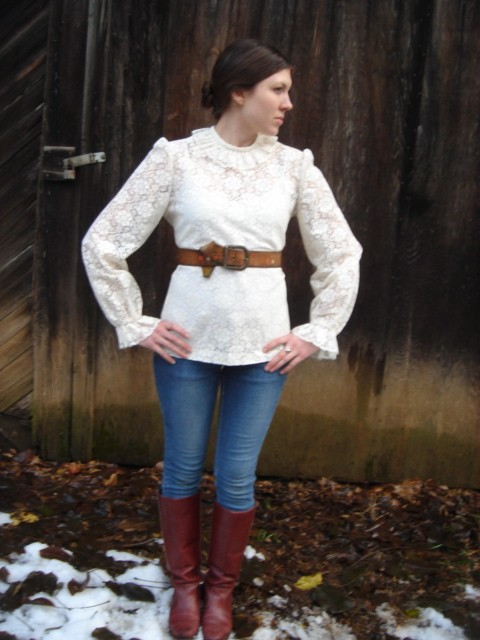 The Ghost Town Sweetheart Blouse, by Violet Follklore vintage, 2