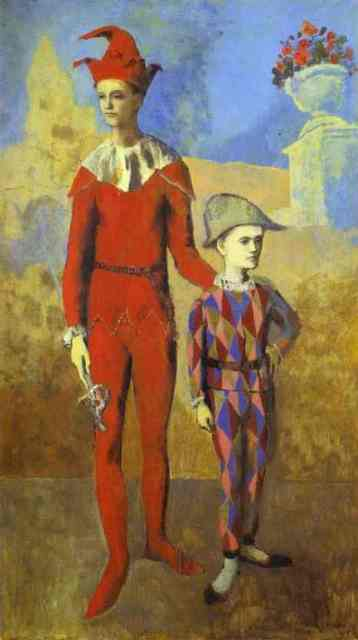 Acrobat and Young Harlequin, by Picasso, 1905