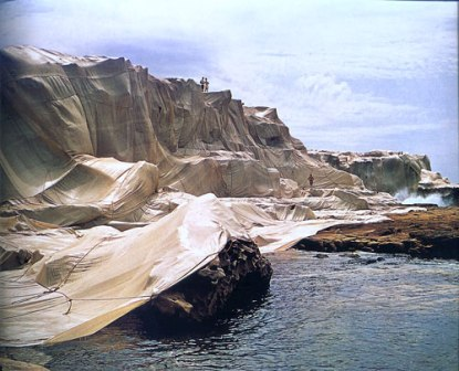 1969, for 7 weeks, by Christo and Jeanne-Claude, Wrapped Coast, Little Bay, Sydney.