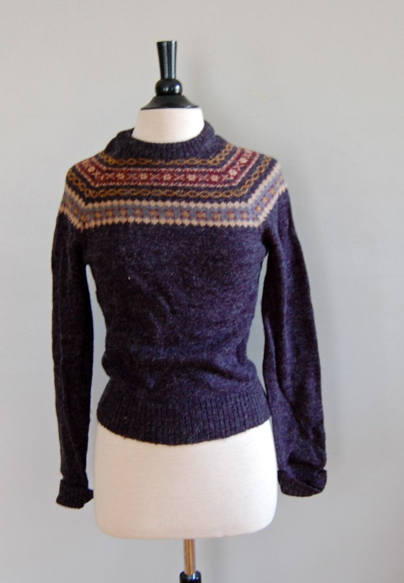 VintageFairIsleSweater,photosviaDearGolden