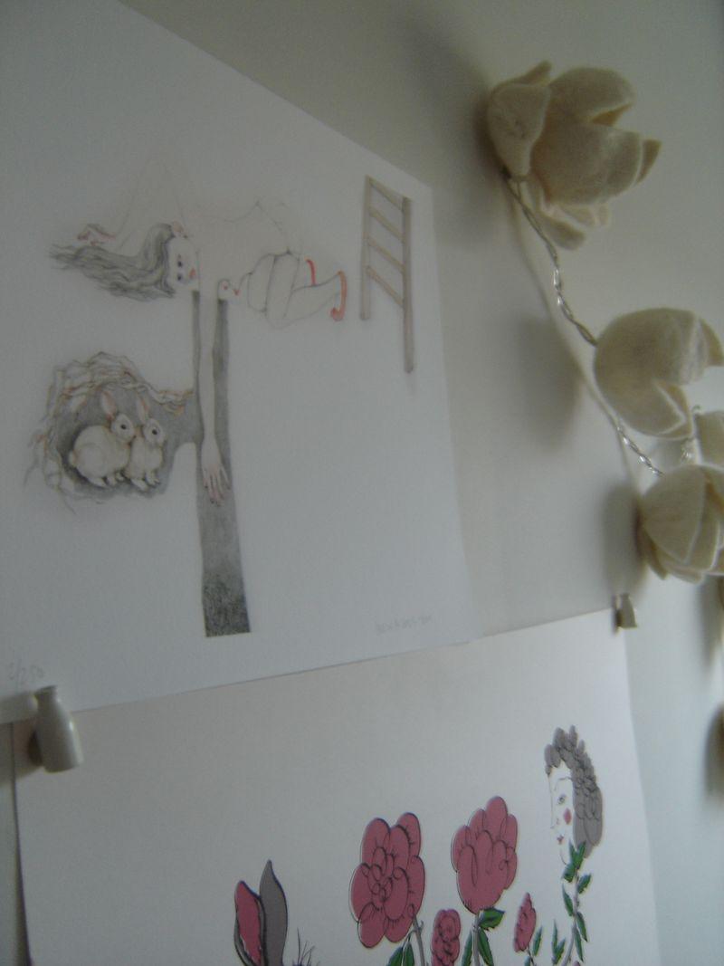 Wall,art,light,photo by heather.